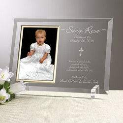 Engraved Christening Picture Frames -..