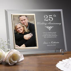 Engraved Anniversary Picture Frame