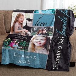 Gifts for Mom:Fleece Photo Blanket