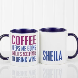 Personalized Gifts (Under $10):Theres Wine In Here Personalized Funny..