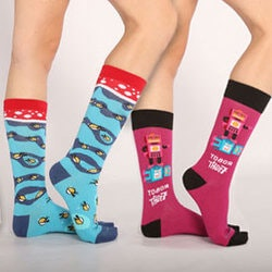 Funny Christmas Gifts for Women:Wild & Crazy Socks Subscription For Her