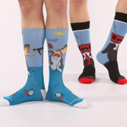 Unusual Birthday Gifts for Brother:Guys Daring And Bold Socks Subscription