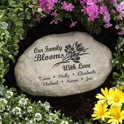Gardening Christmas Gifts:Personalized Garden Stones - Our Family..