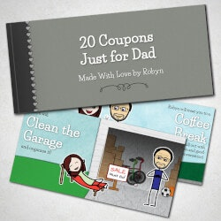 Personalized Romantic Coupon Book - Fathers..