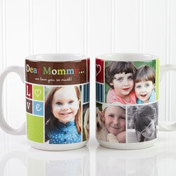 Birthday Gifts for Grandmother:Picture Collage Coffee Mugs