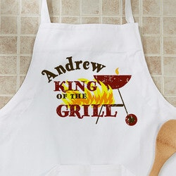 Stocking Stuffers (Under $50):Personalized BBQ Grill Aprons - King Of The..