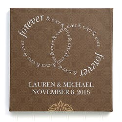 Personalized Wedding Canvas Print 12x12..