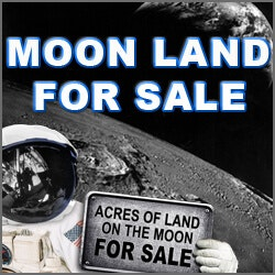 Unusual Retirement Gifts for Dad:Acre Of Land On The Moon