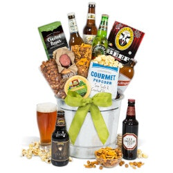 40th Birthday Gifts for Friends:Around The World Beer Bucket