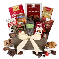 Anniversary Gifts for Girlfriend:Chocolate Gift Basket Classic