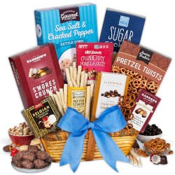 Snack And Chocolate Gift Basket - Classic