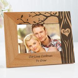 Carved In Love Photo Frame