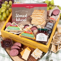 40th Birthday Gifts for Friends:Gourmet Meat & Cheese Sampler