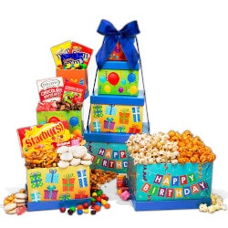 Birthday Gifts for Brother Under $50:Happy Birthday Gift Tower