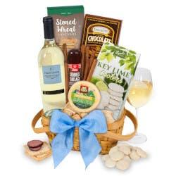 Classic White Wine Gift Basket