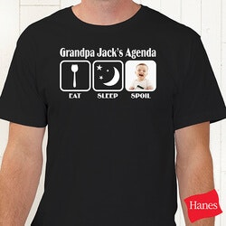Gifts for Dad:Personalized Dad T-Shirts - His Agenda