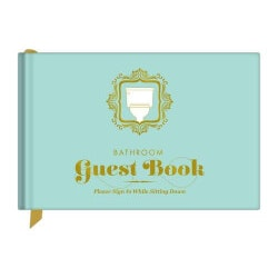 Funny Christmas Gifts for Women:Bathroom Guest Book