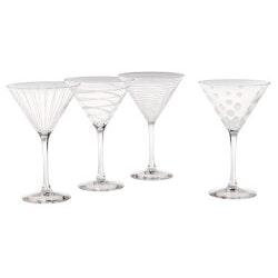Christmas Gifts for Mom Under $50:Mikasa Cheers Martini Glasses