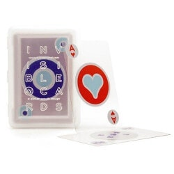 Funny Christmas Gifts for Women:Invisible Playing Cards