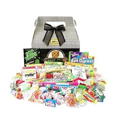 7th Anniversary Gifts for Boys:1980s Classic Retro Candy Gift Box