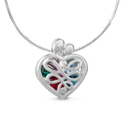 Personalized Jewelry Christmas Gifts:Mothers Heart Birthstone Locket