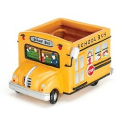Gifts for Teachers:Adorable School Bus Planter