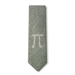 Pi To The 50Th Decimal Necktie