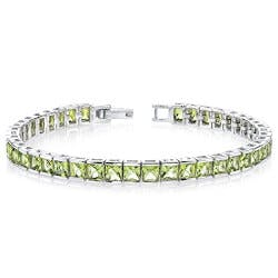 Princess Cut Gemstone Tennis Bracelet