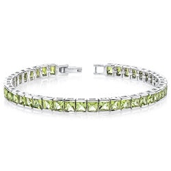 Gifts for Wife:Princess Cut Gemstone Tennis Bracelet