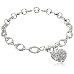 Jewelry Anniversary Gifts:Cubic Zirconia Heart Bracelet