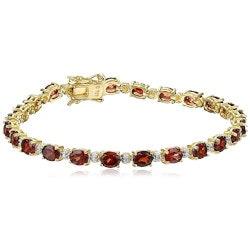 Jewelry Anniversary Gifts:Diamond Accent Gemstone Tennis Bracelet