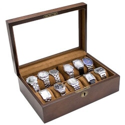 Gifts for Grandfather Under $200:Wood Watch Display Storage Case