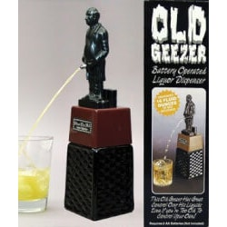 Funny Birthday Gifts for Coworkers:Old Geezer Liquor Dispenser