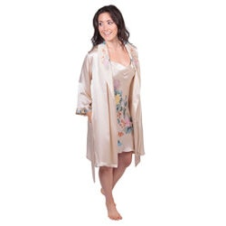 Gifts for Wife Over $200:Silk Chemise & Robe Set
