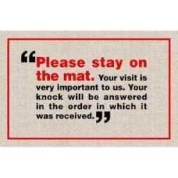 Funny Gifts:Please Stay On Mat Doormat
