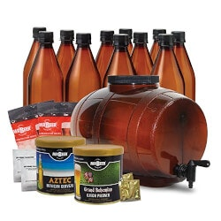 Unusual Anniversary Gifts:Premium Gold Edition Beer Kit