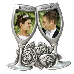 Romantic Gifts:Champagne Glasses Wedding Frame
