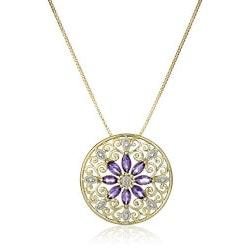Stocking Stuffers for Friends (Under $50):Filigree Medallion Pendant Necklace