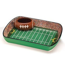 Football Birthday Gifts:Football Stadium Chip And Dip