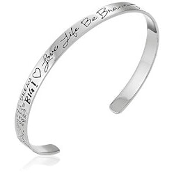 Jewelry Christmas Gifts for Sister:Love Life Be Brave Cuff Bracelet