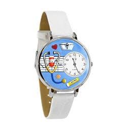 Nurse White Leather Watch
