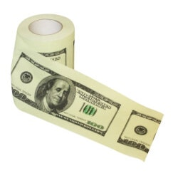Gag Gifts for Dad:Dollar Bill Toilet Paper