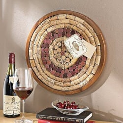 Wine Christmas Gifts for Women:Round Wine Cork Board Kit
