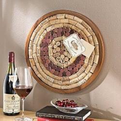 Wine Gifts:Round Wine Cork Board Kit