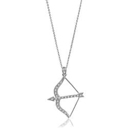 Jewelry Birthday Gifts for Girlfriend (Under $50):Bow And Arrow Pendant Necklace