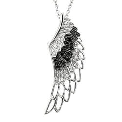 Stocking Stuffers (Under $200):Sterling Silver Angel Feather Necklace