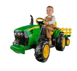 John Deere Tractor With Trailer