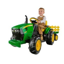 Gifts for Grandson:John Deere Tractor With Trailer