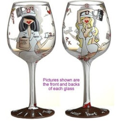 Gifts for Women Under $25:TLC Handpainted Wine Glass