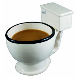 Gag Gifts for Dad:Toilet Mug